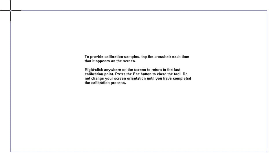 calibration instructions screenshot