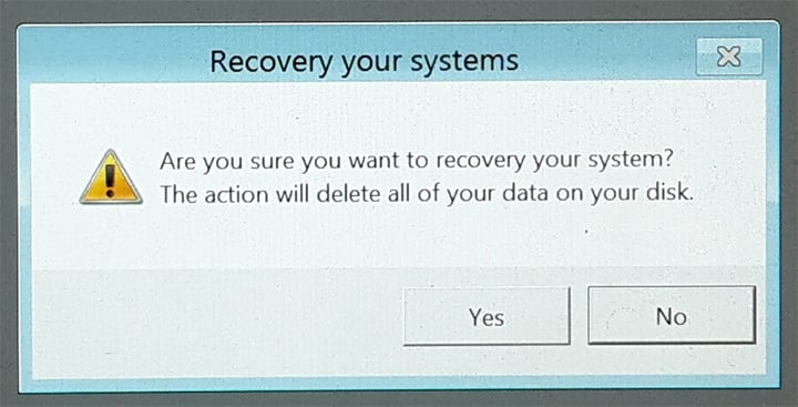 recovery box in windows