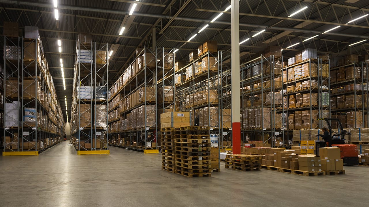 Warehouse environment.
