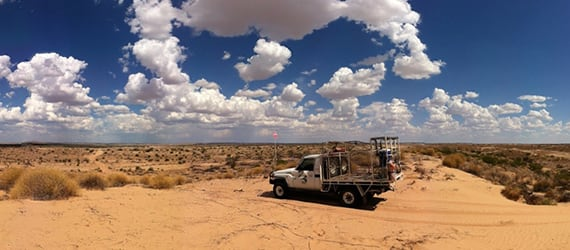 Car in the Australian Outback