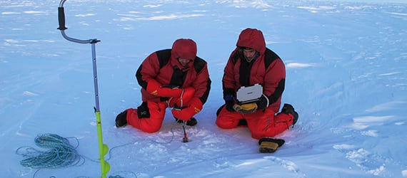 North Pole scientists use Handheld Algiz XRW