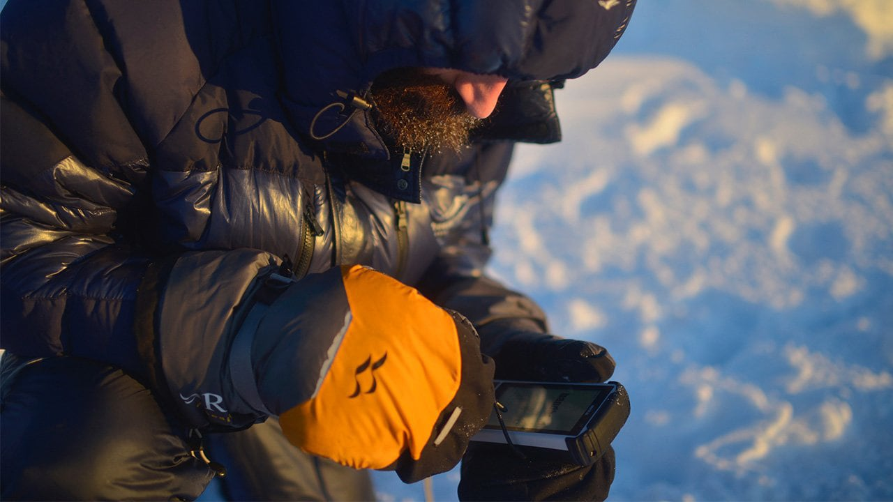 Glacier researcher uses the Handheld Nautiz X8