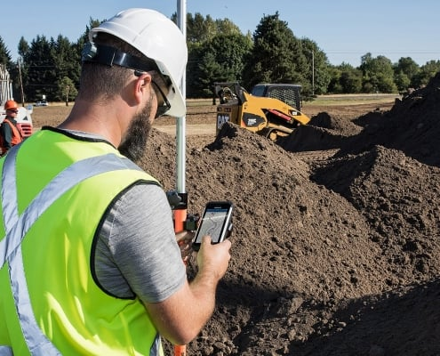 Handheld Nautiz X9 used for GIS tasks