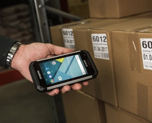 Handheld Nautiz X9 used for logistic tasks