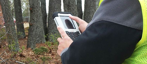 Handheld Nautiz X7 used for stormwater inspection program