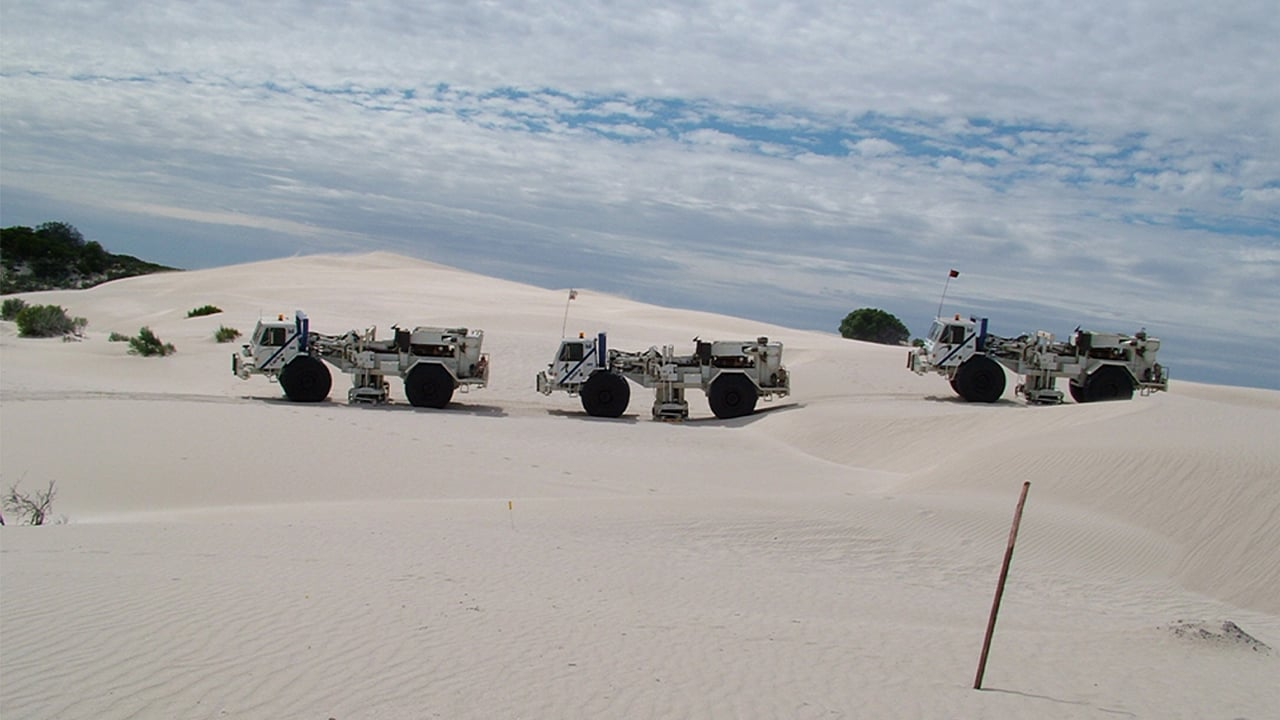 vehicles in desert