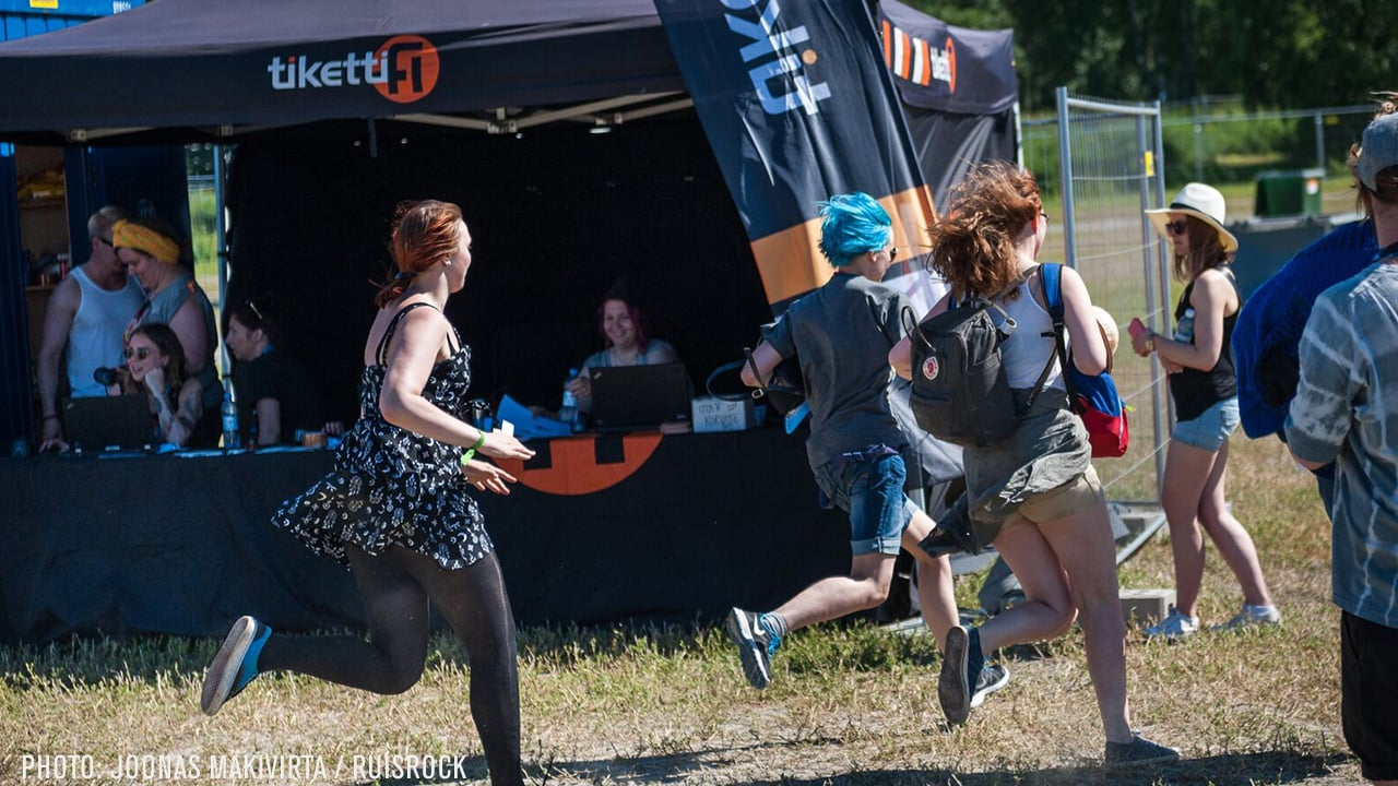 People running at an event