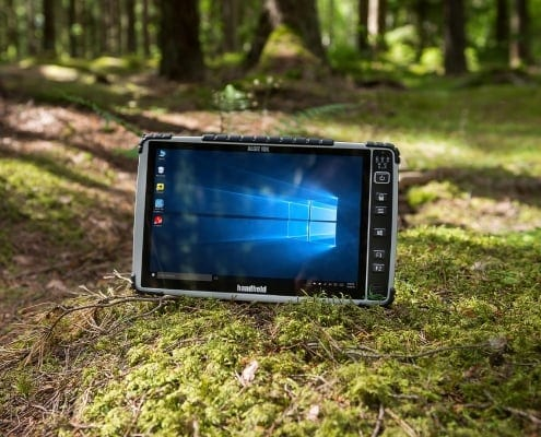 handheld algiz 10x in forest