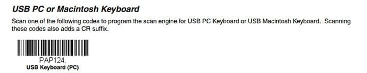 USB PC or Macintosh Keyboard