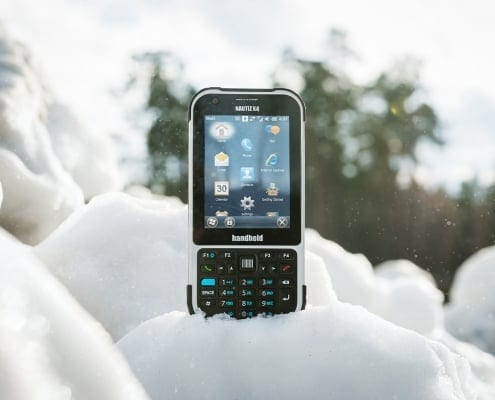handheld nautiz e-ticket pro ii in snow