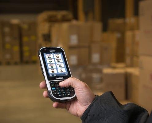 handheld nautiz x4 in warehouse