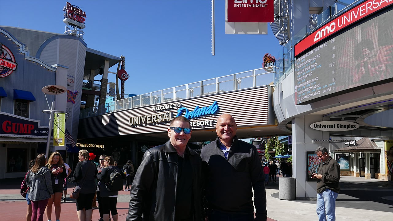 marty and jim at universal theme park