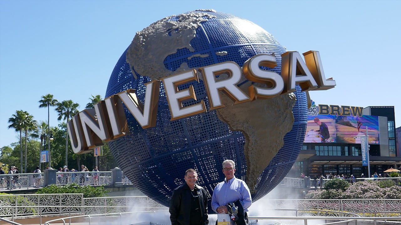 marty and jerker in fron of universal logo