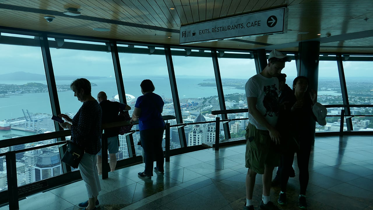 on top of the sky tower
