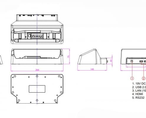 handheld algiz 8x desktop cradle drawing