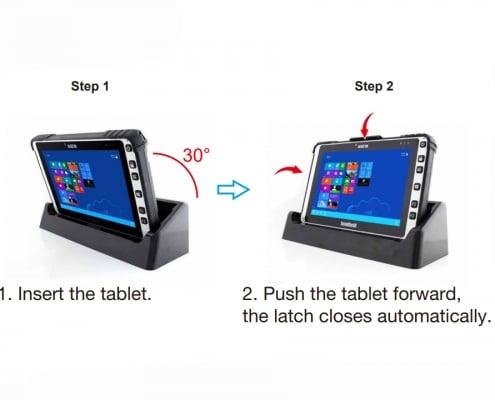 handheld algiz 8x desktop cradle how to insert