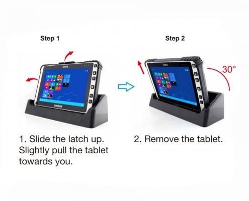 handheld algiz 8x desktop cradle how to remove