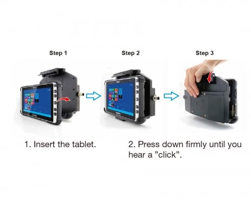 handheld algiz 8x lockable vehicle dock how to insert