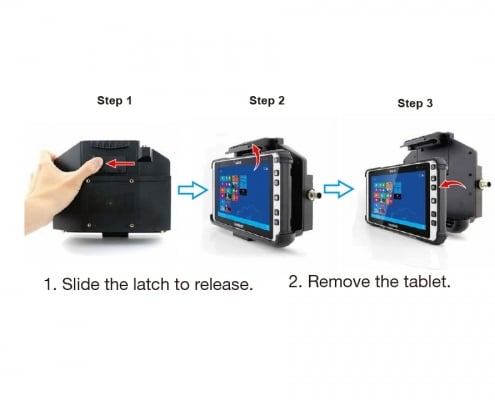 handheld algiz 8x lockable vehicle dock how to remove