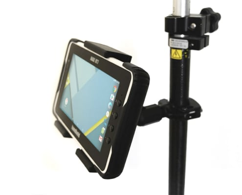 handheld algiz rt7 in pole mount