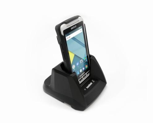 handheld nautiz x2 in desktop cradle