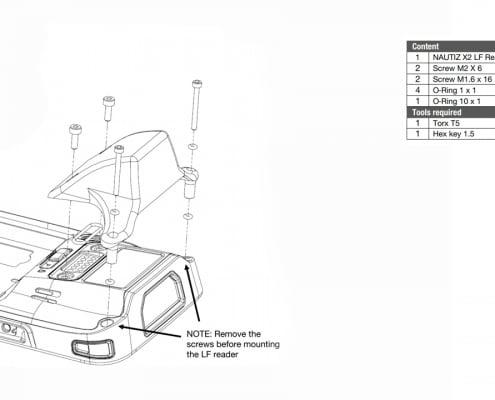 handheld nautiz x2 lf rfid reader spec drawing