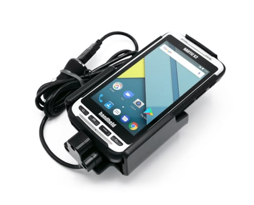 handheld nautiz x2 in vehicle cradle