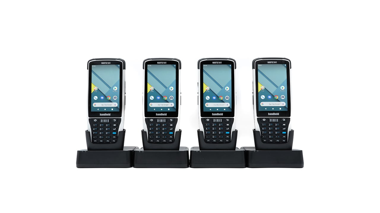 handheld nautiz x41 four slot charging station