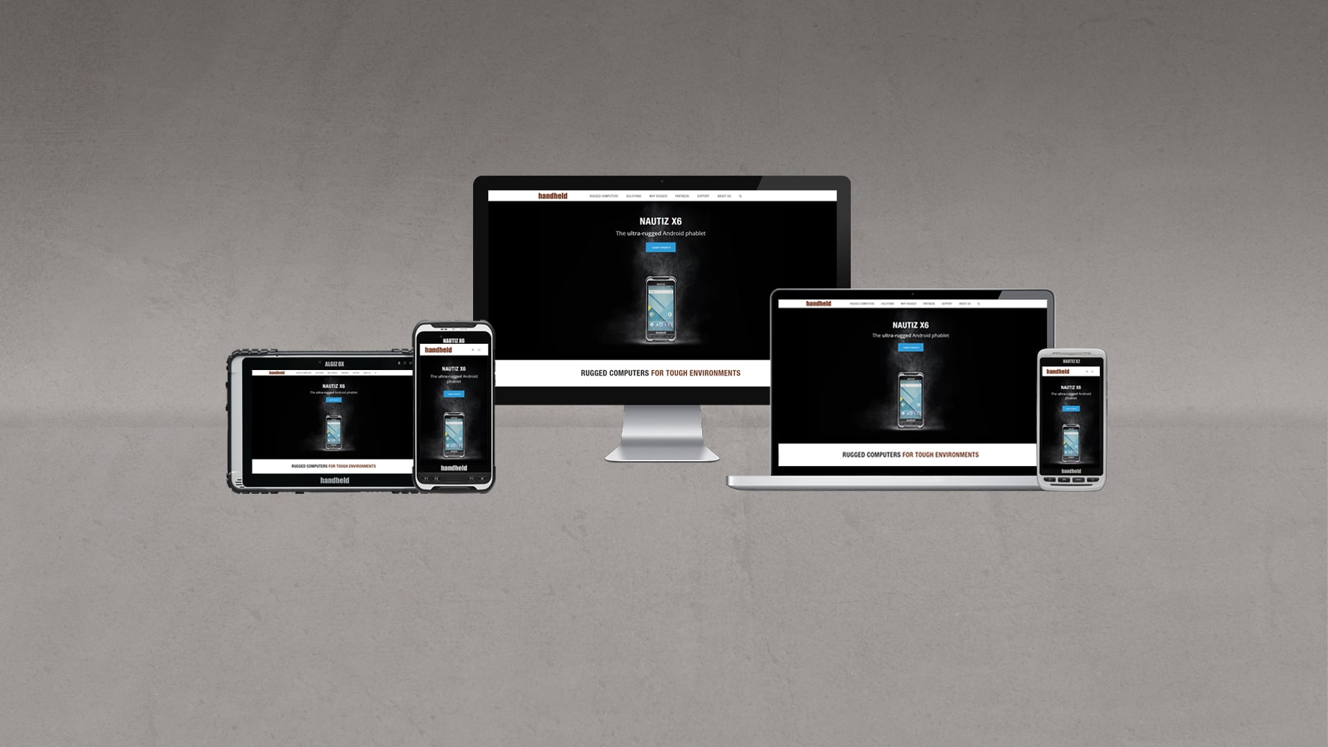 handheld devices showing the new handheld website