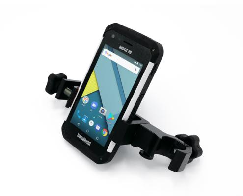 handheld nautiz x9 in pole mount