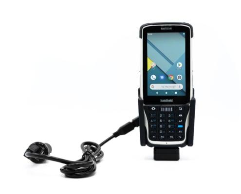 handheld nautiz x41 in vehicle cradle