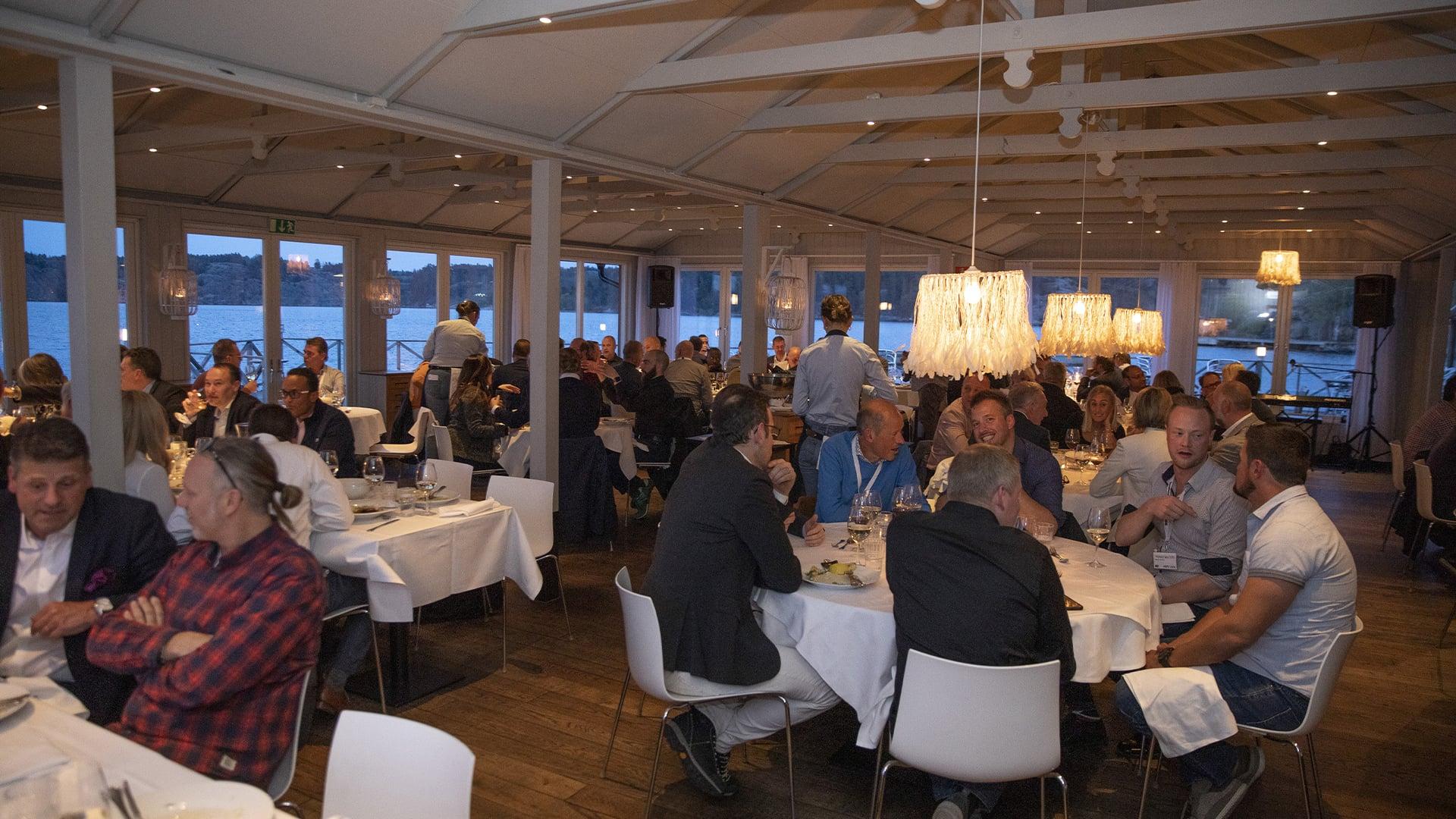 handheld business partner conference evening dinner