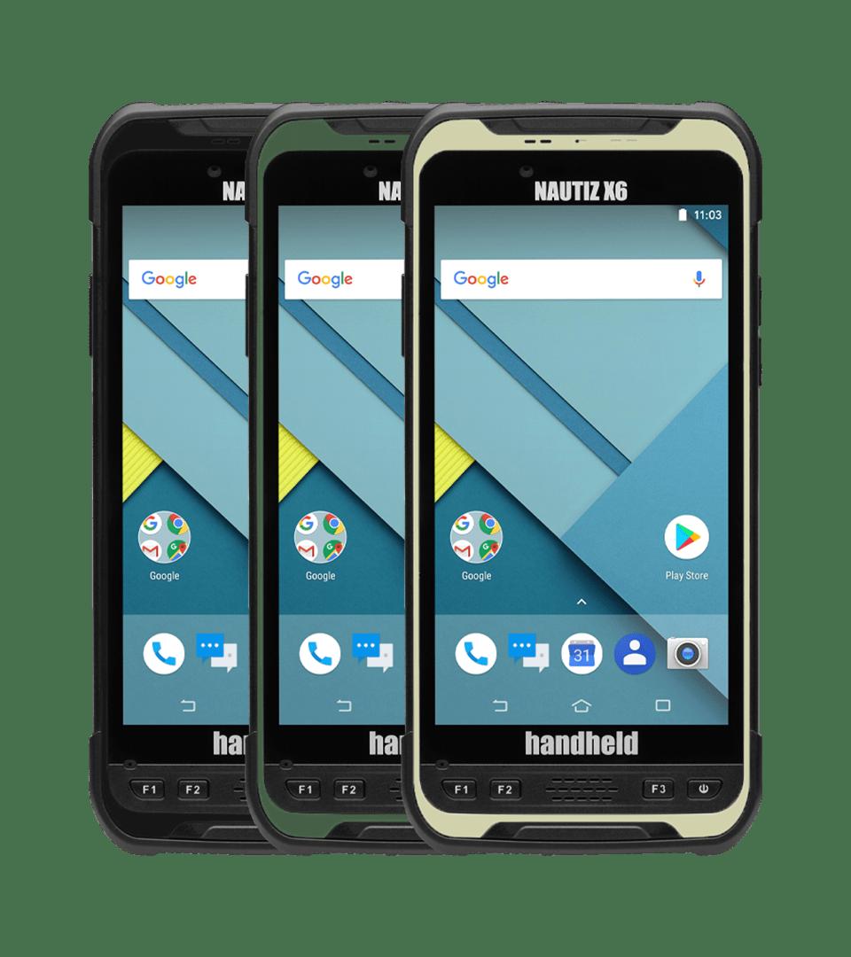 handheld nautiz x6 in multiple colors