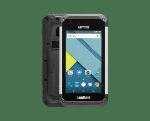 handheld nautiz x9 front and back