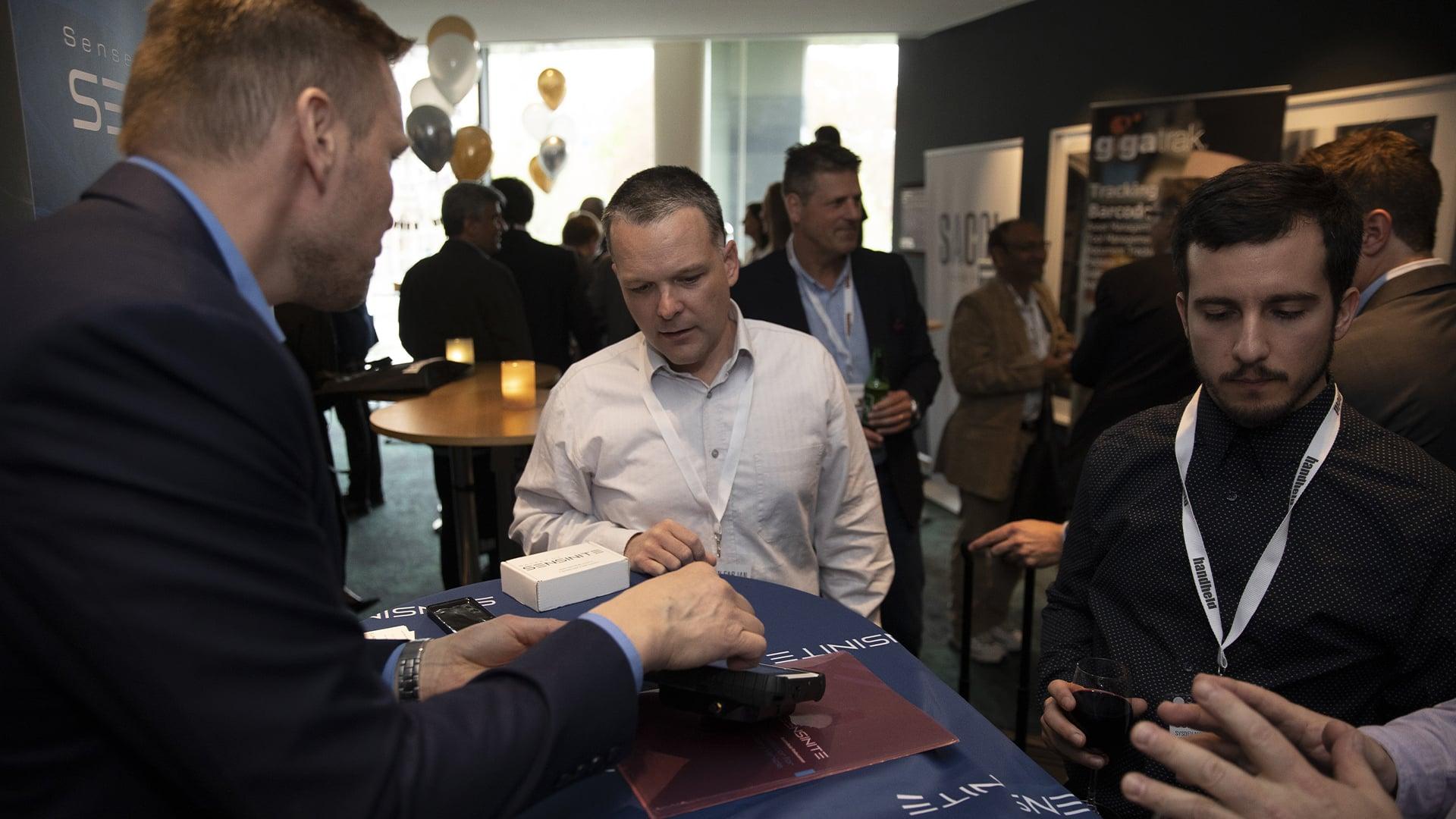 handheld business partner conference showcase area