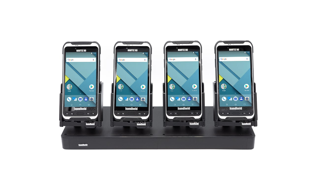 handheld nautiz x6 four-slot charging station