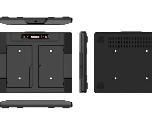 handheld nautiz x6 two-slot battery charger