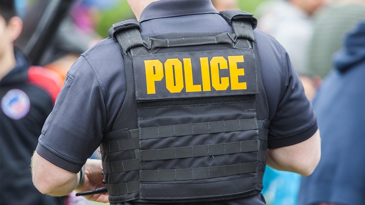 Back of policeman