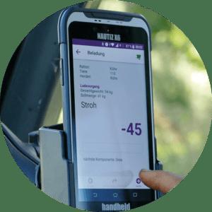 feeding management software on handheld nautiz x6