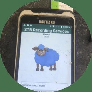 lambing software on handheld nautiz x6